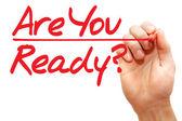 Ruční psaní Are You Ready, obchodní koncepce