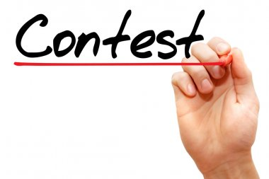 Hand writing Contest , business concept