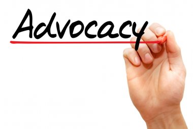 Hand writing Advocacy, business concep