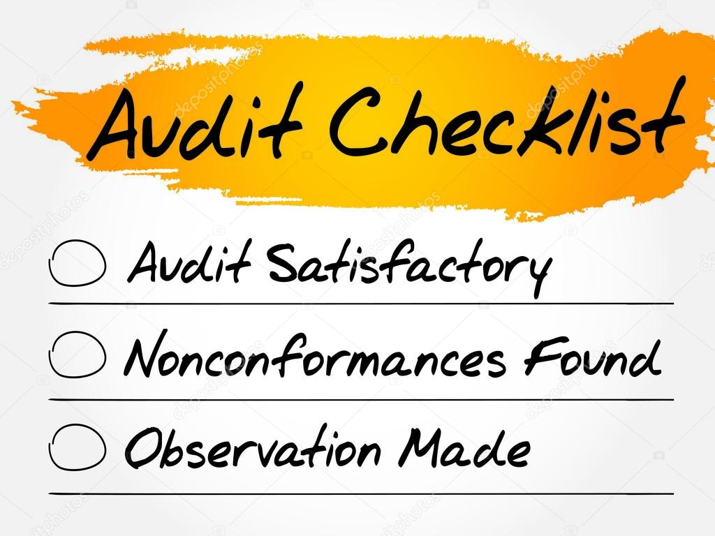 lista de verificación de auditoría — Archivo Imágenes Vectoriales ...