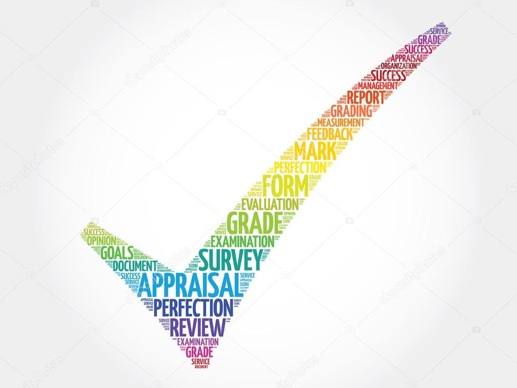colorful appraisal check mark business concept words cloud photo by dizanna