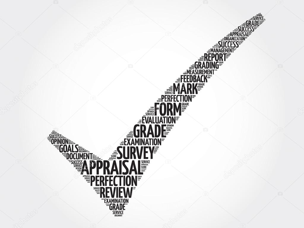 Appraisal check mark, business concept words cloud — Stock Photo ...