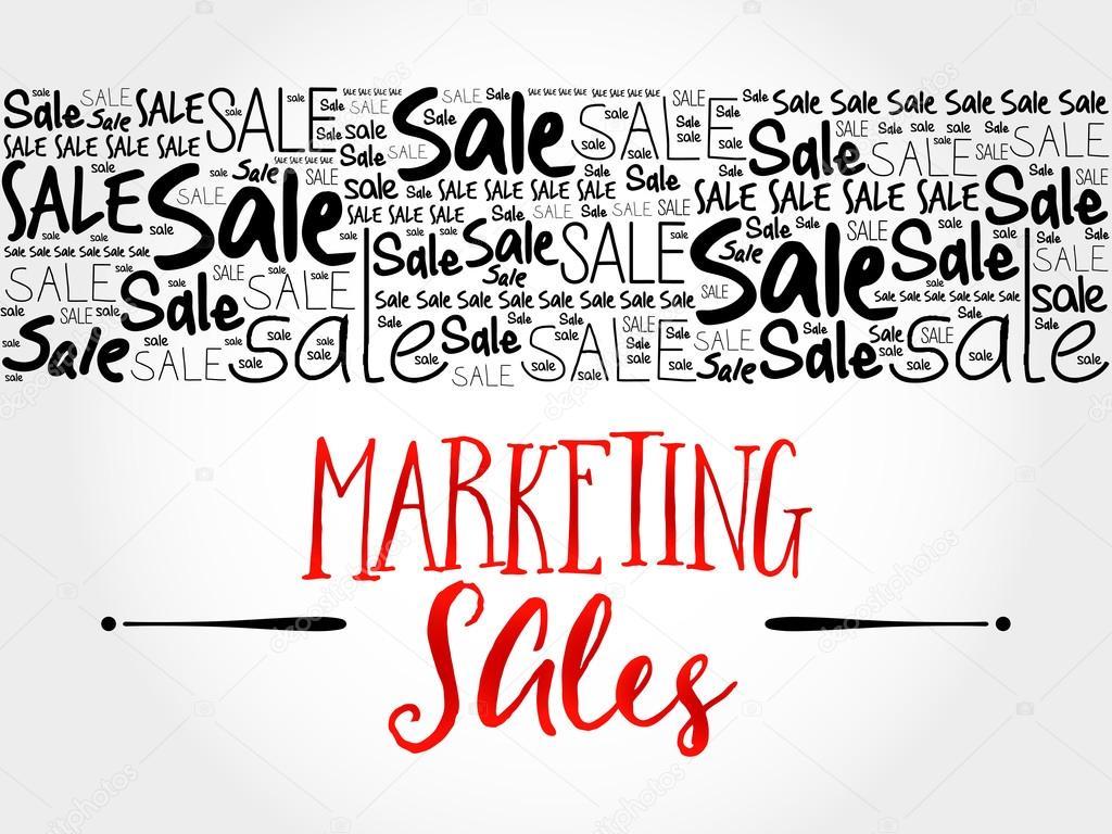 マーケティング セールス ワード雲の背景 — ストックベクター © dizanna