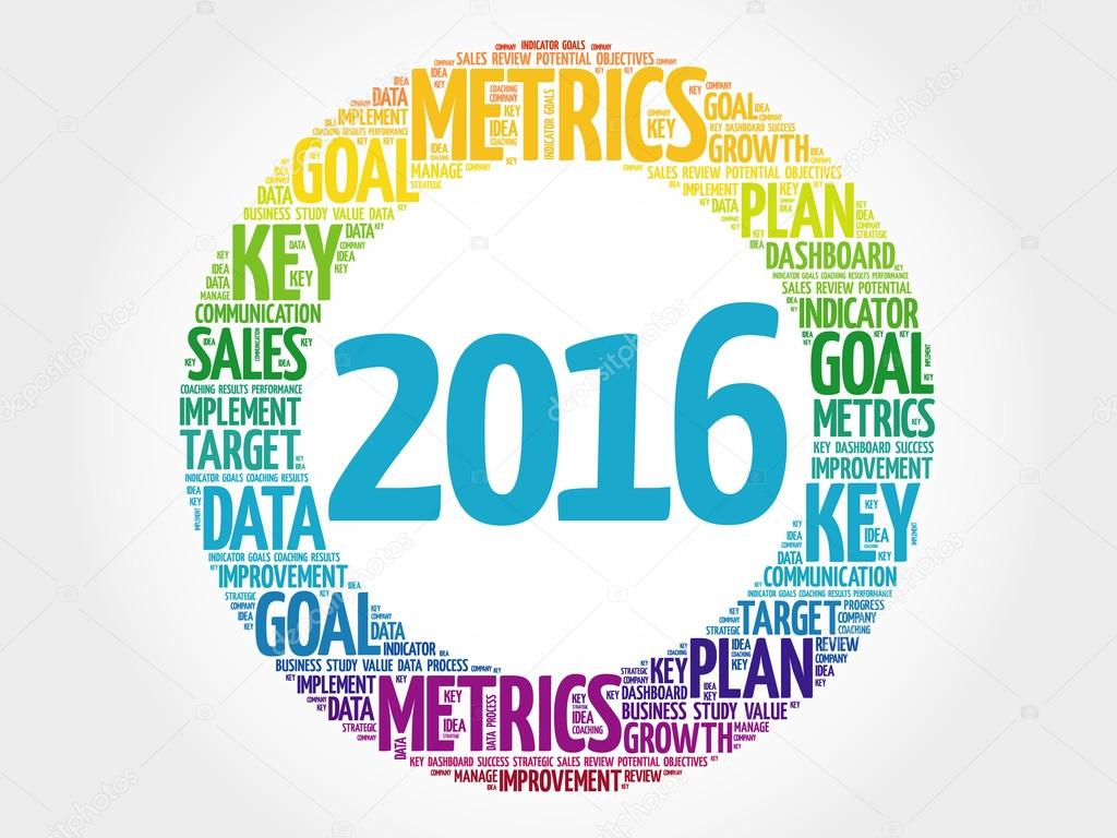2016 circle word cloud, business concept