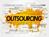 Fotografie Outsourcing word cloud