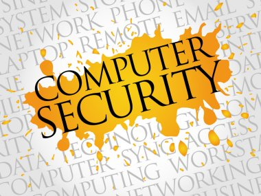 COMPUTER SECURITY word cloud