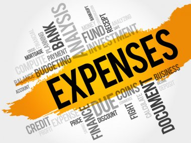 EXPENSES word cloud