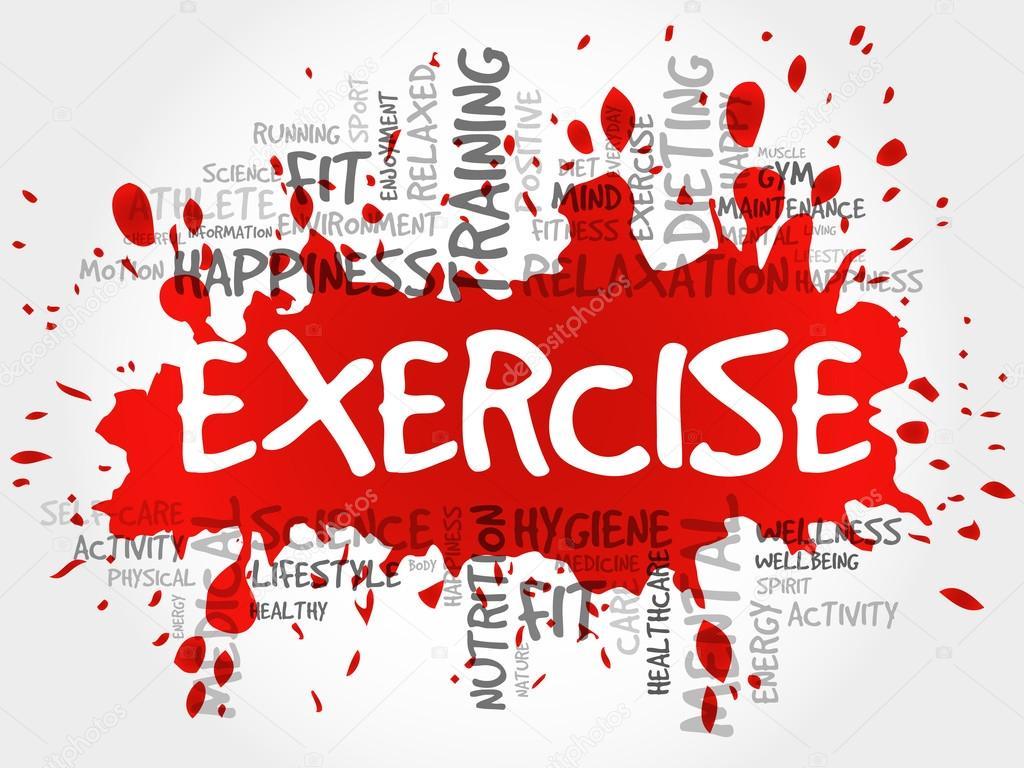 Exercise Word Cloud Fitness Stock Photo C Dizanna 99732802