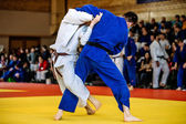 Photo battle of two fighters judo