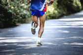 Fotografia atleta maschio vecchio piedi