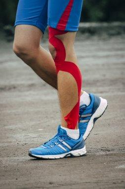 Young man runs marathon