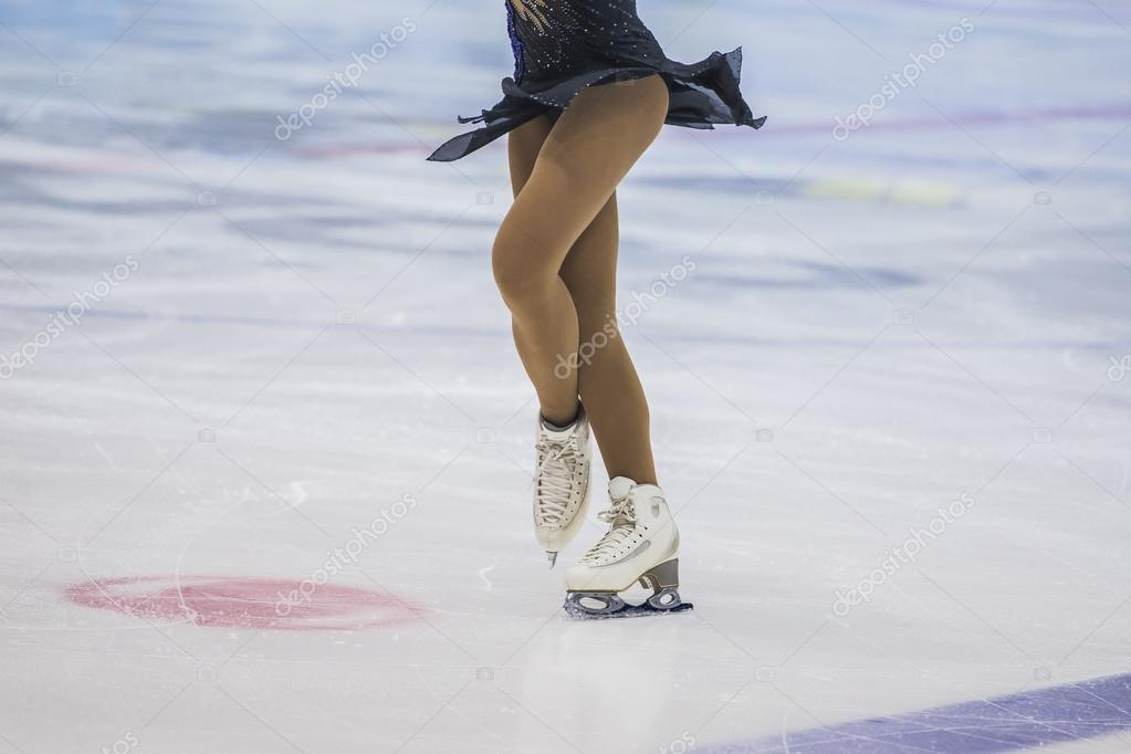 girl skater on ice arena