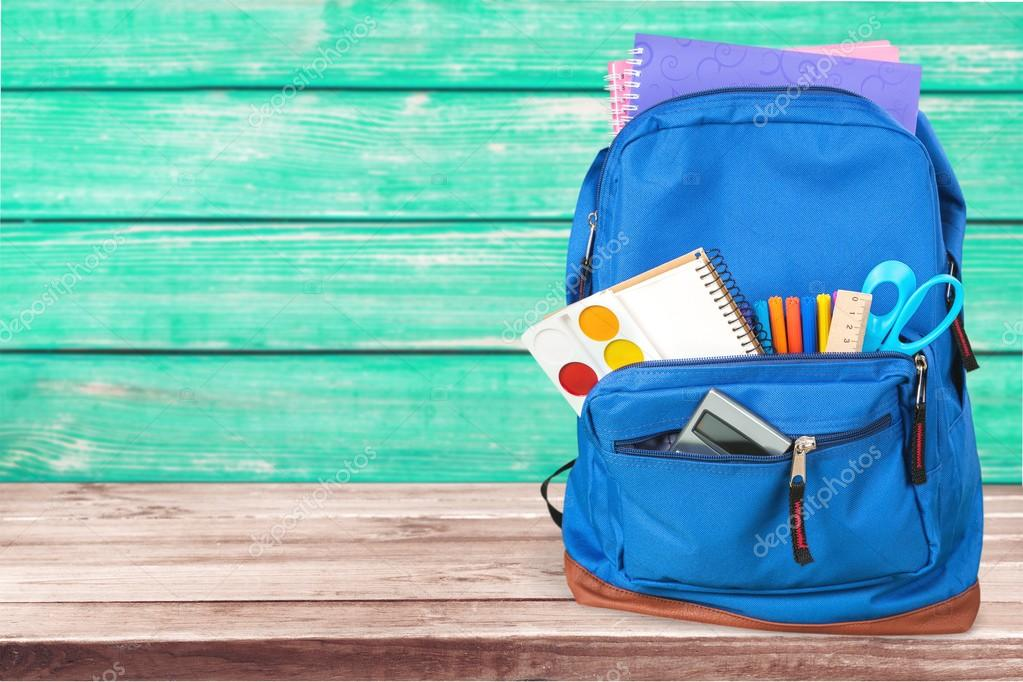 school bag on background stock photo billiondigital 113513476