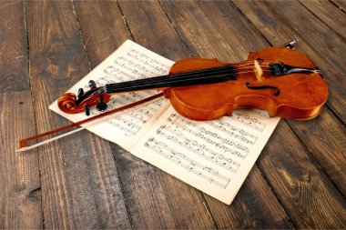 Violin And Musical Notes