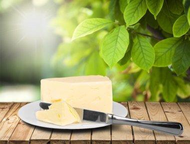 Pat of fresh farm butter