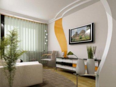 modern scandinavian interior of living room