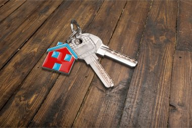 House keys with house figure