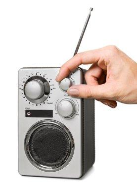 human hand tuning radio