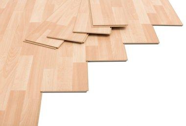 laminate flooring on white