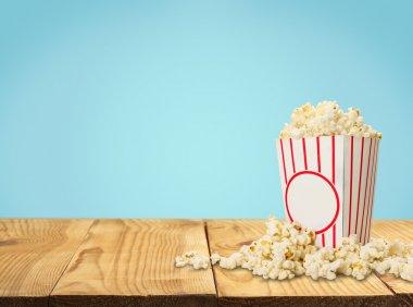 Popcorn food in box