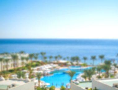 resort blurred background