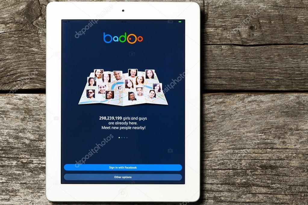 badoo on the Apple iPad.