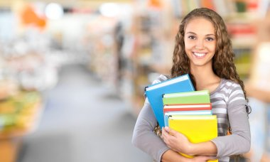 Young Student with books