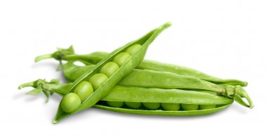 Fresh peas isolated