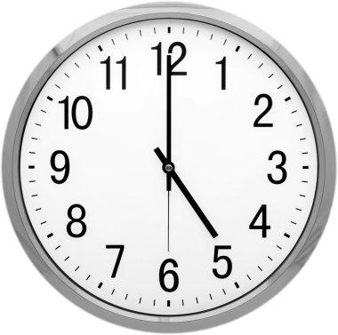 round clock face