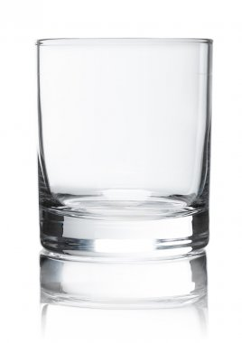 Empty glass for whiskey