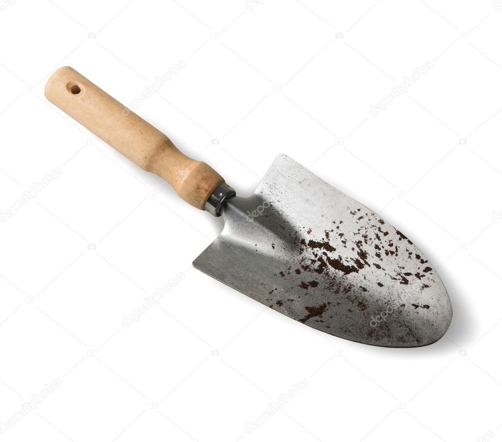 Shovel for gardening  isolated