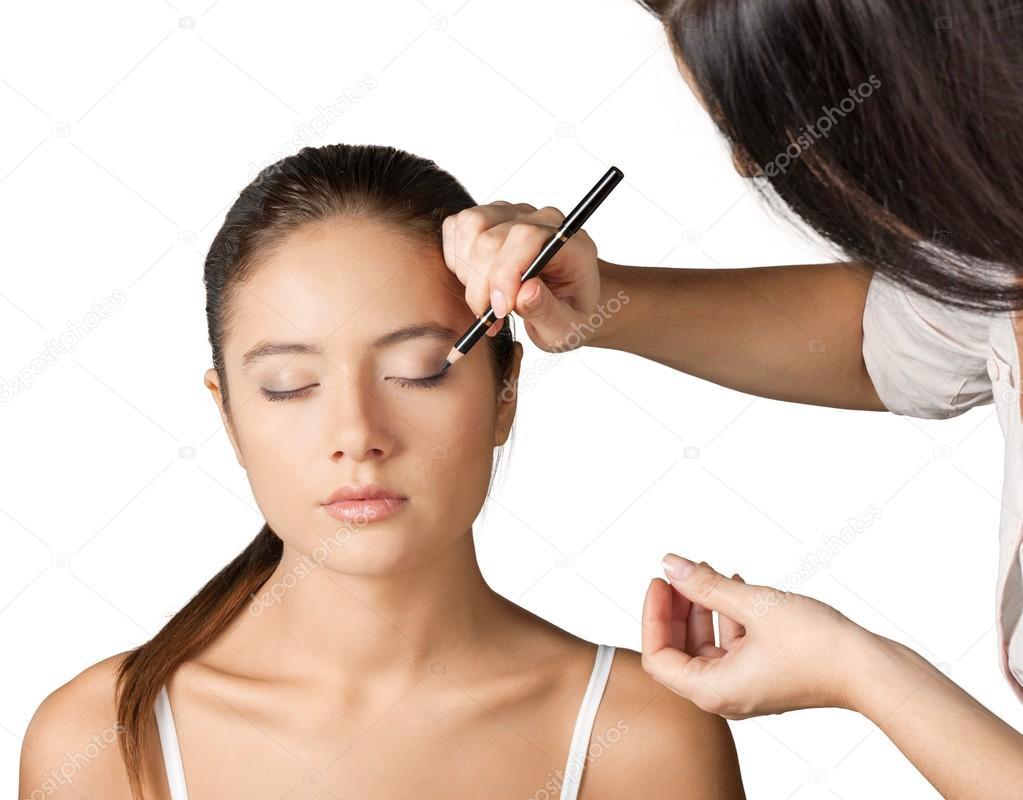 Makeup Artist Doing Makeup Girl Stock Photo C Billiondigital 118536358