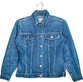 Photo denim jeans jacket on hanger