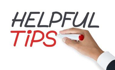 hand writing words helpful tips