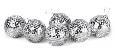 Silver disco mirror balls