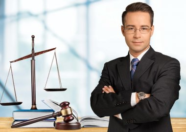 Handsome Caucasian lawyer