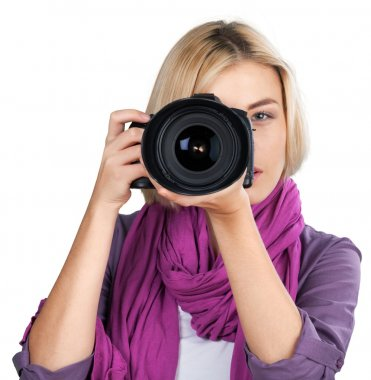 woman-photographer takes images