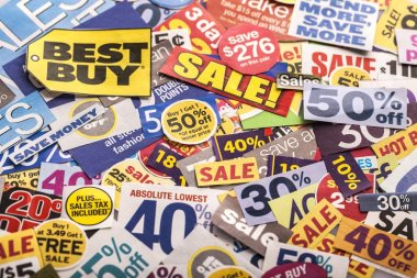 Colorful sale sticker tags