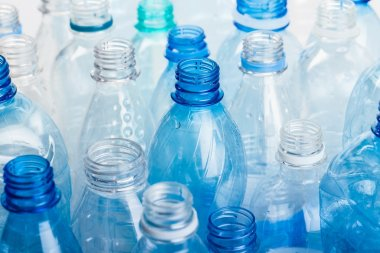 plastic bottles of water isolated