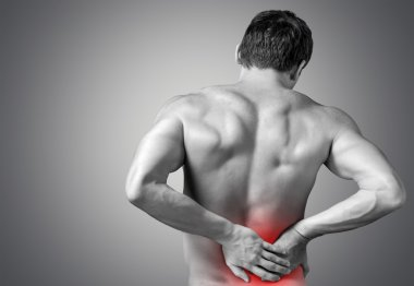Strong man with back pain