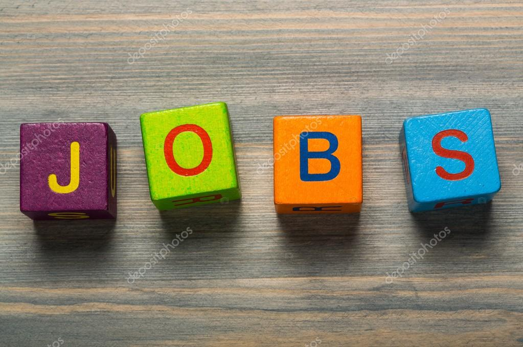 jobs  with wooden cubes