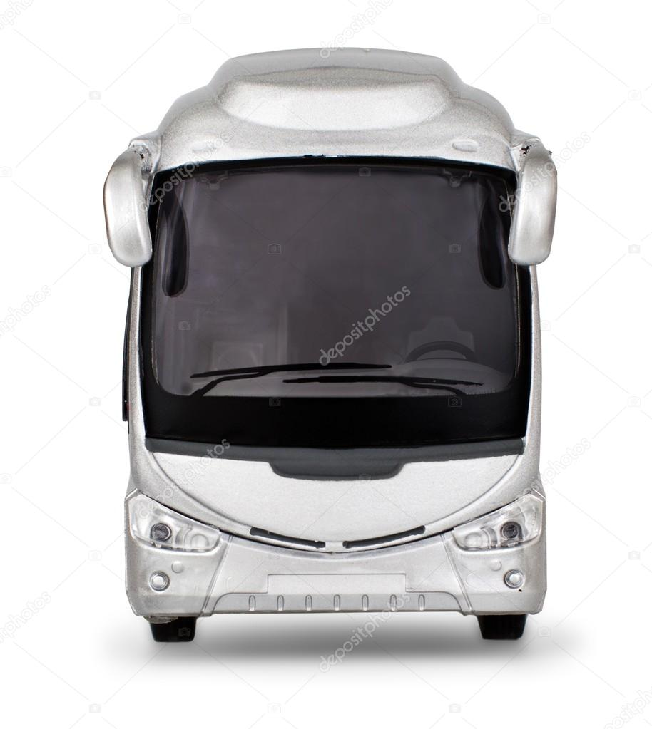 Realistic silver bus