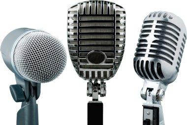 Retro style microphones