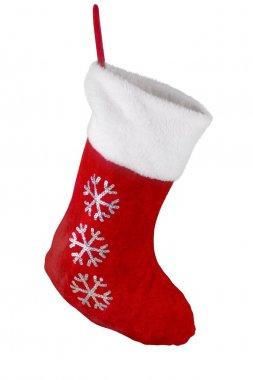 Santa's red stocking.