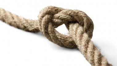 Rope with knot isolated