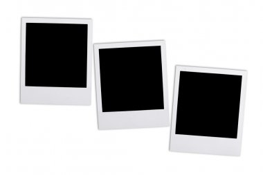 Blank Photos on white  background.