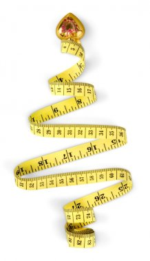 Measuring tape isolated on white background stock vector