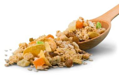 Muesli with dried fruits