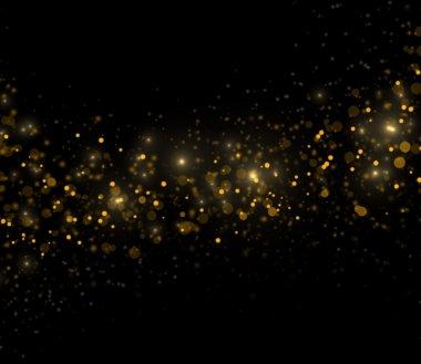 golden sparkles on black