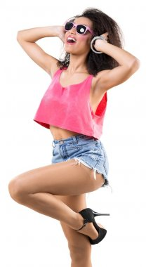 beautiful disco african girl
